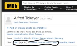 Alfred Tokayer IMDB
